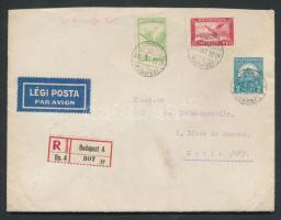 1930 Ajánlott légi levél Párizsba / Registered airmail cover to France