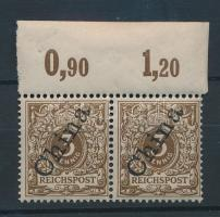 China 1898 Mi 1 IIa ívszéli pár / margin pair