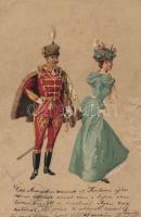 Officer, lady s: Geiger R., Katonatiszt, hölgy s: Geiger R.