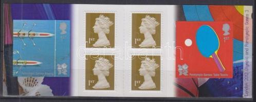 2010 Paralimpia London öntapadós bélyegfüzet Mi 4 x 2726 + 2987-2988,