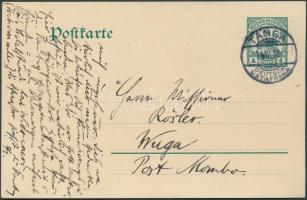 Deutsch Ostafrika 1911 Díjjegyes levelezőlap / PS-card TANGA - Wuga