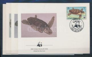 1983 WWF Teknős sor Mi 541-544 4 FDC-n