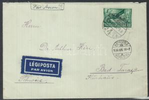 1936 Légi levél Svájcba / Airmail cover to Switzerland
