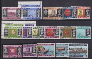 1969 Forgalmi, látványosságok és címerek sor Mi 8-23 + Mi 9II,13,14 bélyegfüzetlapok