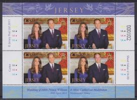 2011 Vilmos herceg és Catherine Middleton házasságkötése kisív Mi 1553