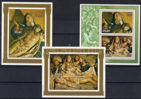 1979 Húsvét, vallásos szobrok 3 db blokk Mi 12-14