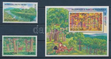 1999 Europa: Természeti és nemzeti parkok Mi 305-306 + blokk 18