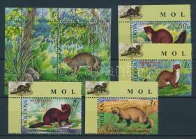 2006 Veszélyeztetett állatok Mi 559-562 + blokk 36