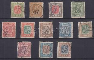 IZLAND 1907 Mi 48-51, 53-58, 60, 62 (Mi EUR 440.-)