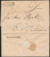 1842 Portós levél / cover with postage due N:KÁROLY - DEBREZIN