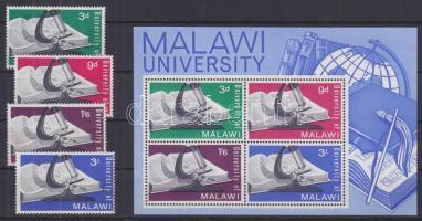 1965 Malawi egyetem alapítása sor Mi 33-36 + blokk 4