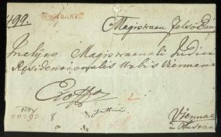 1824 Ex offo, piros / red NAGYBANYA - Vienna