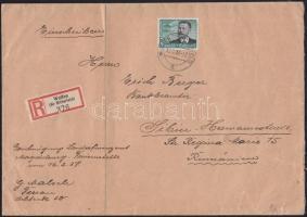 1937 Ajánlott levél Nagyszebenbe