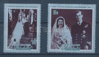 1972 Az angol király pár ezüstlakodalma sor Mi 44-45