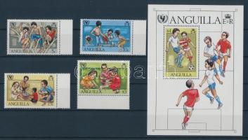 1981 35 éves az UNICEF sor Mi 446-449 + blokk Mi 39