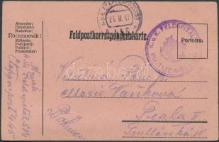 1917 Levelezőlap tábori kórházból / Postcard from field hospital K.u.K FELDSPITAL No 514 + EP 445a