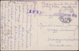 1917 Képeslap / Postcard M. Kir. 20. honvéd gyalog hadosztály távbeszélő osztag + TP 417