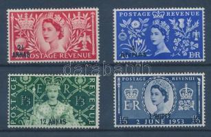 1953 II. Erzsébet királynő megkoronázása sor Mi 44-47