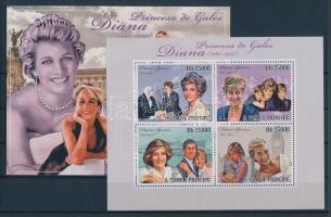 2010 Lady Diana kisív Mi 4368-4371 + blokk Mi 752