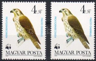 1983 Védett ragadozó madarak vörösesbarna + szürkésbarna változat