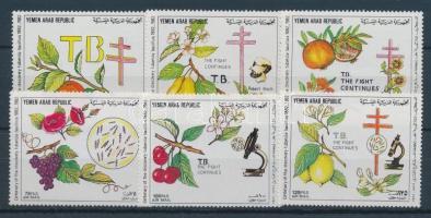 1982 Tuberkolózis sor Mi 1739-1744