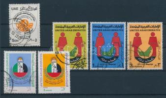 1985 A tisztaság hete bélyeg Mi 180 + Népszámlálás sor Mi 185-187 + 1986 A család napja sor Mi 192-193