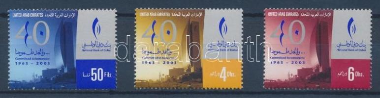 2003 40 éves a Dubai Nemzeti Bank sor Mi 711-713