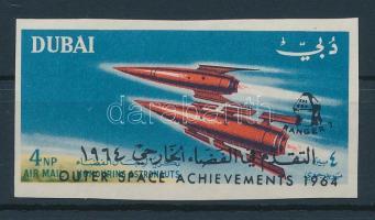 1964 Mi 74 vágott RANGER 7 felülnyomással / imperforate with overprint RANGER 7