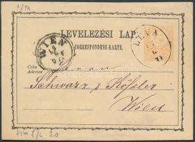 1874 Díjjegyes levelezőlap ovális LÉVA