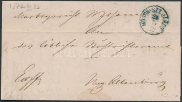 1872 Ex offo kék / blue MOSON-SZT. JÁNOS - ovál MOSONY - MAGY.ÓVÁR