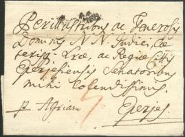 1791 Portós levél / cover with postage due Von Ofen - Eperjes