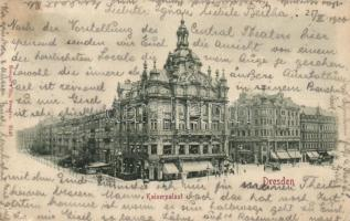 Dresden, Kaiserpalast / Imperial Palace, tram