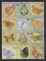 Butterflies block of 12, Lepkék tizenkettestömb, Schmetterlinge Zwölferblock