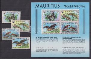 1978 Környezetvédelem: Veszélyeztetett állatok sor Mi 463-466 + blokk Mi 8