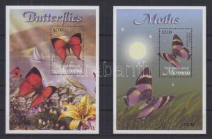2002 Fauna és flóra: Lepkék 2 db blokk 114 + 116