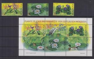 2008 Veszélyeztetett növények sor Mi 616-618 + blokk 39