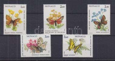 1984 Lepkék és növények sor Mi 1624-1628