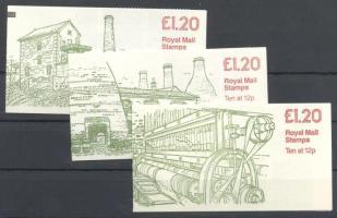 1983 3 klf bélyegfüzet Mi 0-81a-c
