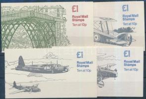 1979-1980 4 klf bélyegfüzet Mi 0-80a-d