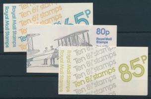 1974-1979 3 klf bélyegfüzet Mi 0-75, 0-76, 0-79