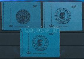 1973-1974 3 klf bélyegfüzet Mi 0-71aI, 0-71aII, 0-71b