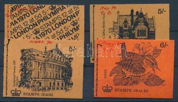 1970 4 klf bélyegfüzet Mi 0-67e, f, gI + 0-69e
