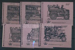 1972-1973 6 klf bélyegfüzet MH 32eI-eII, fI-fII, g, h