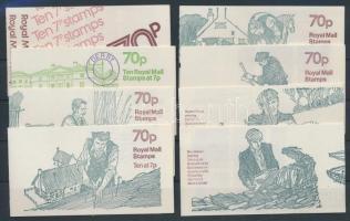 1977-1979 8 klf bélyegfüzet MH 0-77a-h