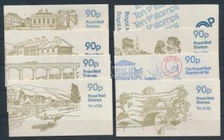 1977-1979 8 klf bélyegfüzet MH 0-78 a-h