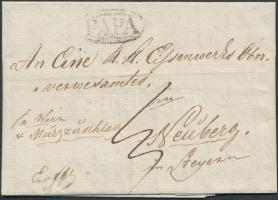 1838 Portós levél PAPA - Neuberg