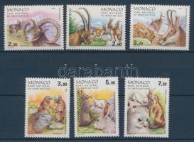 1986 Mercantour Nemzeti Park, állatok sor Mi 1748-1753