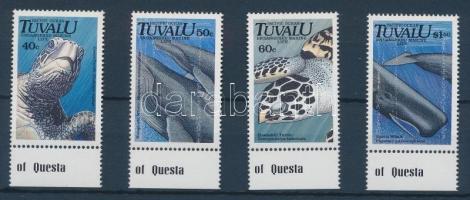 1991 Veszélyeztetett tengeri állatok sor ívszéllel Mi 591-594