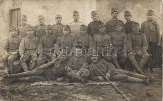 Military WWI Hungarian soldiers group photo, Katonaság, I. világháborús magyar katonák fotó