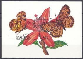 1991 Lepkék és virágok Mi blokk 202